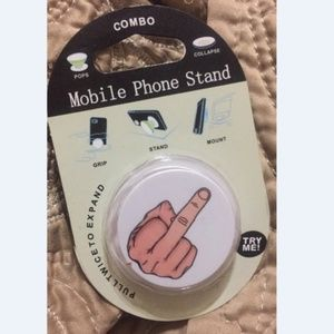 Novelty Middle Finger Pop Out Cell Phone Stand
